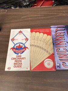 Lot Of 3 Cincinnati Reds Media Guides 1988,1989,1999