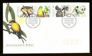 1998 Australia Birds. Endangered Species FDC Cockatoo first day cover. 1794-1797