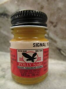 FLOQUIL POLLY SCALE RAILROAD COLORS MODEL PAINT .5oz  OUNCE - SIGNAL YELLOW