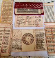 Antique Old Rare India Hindu Religious Hand Written Painting  Manuscript
