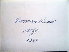 Norman lire Olympique 1956 50 km Walk GOLD MEDAL WINNER-Original encre autographe