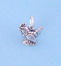 Sterling Silver French Hen, Chicken Charm 3D, Minil, Made in USA