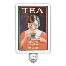 Funny Vintage Style Tea Makes Everything Better Night Light
