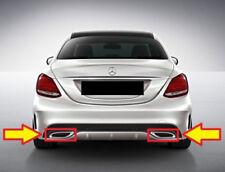 Nuovo Originale Mercedes Benz Classe C W205 AMG Set di Scarico Cromato Tubo