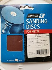 Sanding Disc 120 Grit Cloth One Hole for Drill Attachment Type Pk4