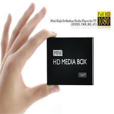 US Plug Mini 1080P HD Media Player with HDMI/AV/USB/SD/MMC for Car Home