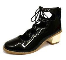Escarpins chaussures à lacets noirs pour femme