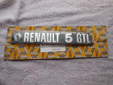 Renault 5 GTL Tailgate Badge Upto 1981 New Genuine 7700617295
