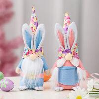 Easter Bunny Gnome Swedish Elf Dwarf Doll Handmade Spring Easter Gift Decor