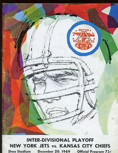 12-20 1969 AFL Playoff Program Kansas City Chiefs at New York Jets VGEX