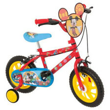 """Disney Mickey Mouse 12 Inch Kids' Bike With Stabilisers 12"""""""