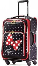Minnie Mouse Rolling Suitcase Disney Luggage Spinner Travel Girls Kids Women New
