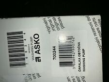 700244 Asko Dishwasher Washing Pump