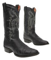 DAN POST Cowboy Boots 9.5 D Mens EXOTIC Full Quill Ostrich Leather WESTERN Boots