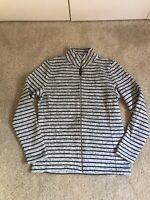 LOOK! Vineyard Vines Gray Black Stripe - Small - Full Zip Sweater Jacket - EUC