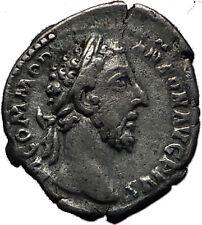 COMMODUS 177AD Silver Authentic Genuine Ancient Roman Coin VIRTUS Rare i60613