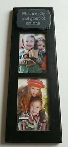 Malden 4x6  Gray and black  Distressed Cousins frame for 2 pictures NEW