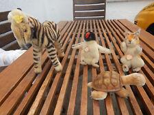 4 alte Steiff Tiere Possy, Peggy, Slo und eine Zebra