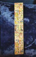 """TARZAN Japanese Vintage Uncut 14pcs Manga Menko Card Sheet 1.75"""" x 10 1/8"""" RARE!"""