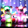 2PC Small LED Flash Teddy Bear Stuffed Animal Plush Soft Hug Toy Baby Girls Gift