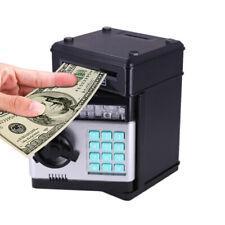 Electronic Piggy Bank Password Coin Saving Money Box Children Safe ATM TOY Black
