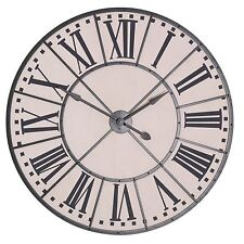 Large 105cm Vintage Metal Frame Wall Clock