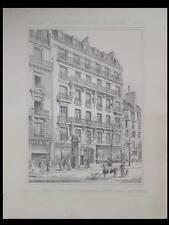 PARIS, 240 BIS BOULEVARD ST GERMAIN - 1891 - PLANCHE ARCHITECTURE - GUADET