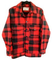 Filson Mackinaw Wool Cruiser Jacket Men's Buffalo Red Plaid VTG Size L- 42