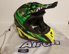 NEW Airoh Aviator 2.2 Threat Green Matt Off Road Helmet - Large -  AV22TH70
