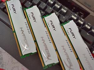 CRUCIAL memoires DDR3 4X4 16 GO 1600 avec dissipateurs TUNING blancs