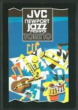 Ugo Nespolo : JVC Newport Jazz Festival TORINO - cartolina tiratura limitata