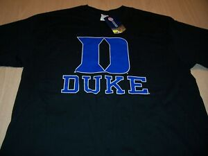 NWT NCAA DUKE UNIVERSITY SHORT SLEEVE BLACK T-SHIRT MENS LARGE