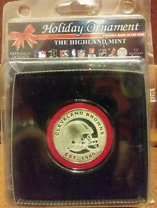 The Highland Mint Cleveland Browns Holiday Ornament New Unopened