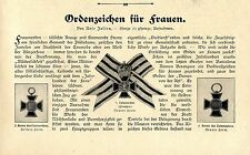 Ordenzeichen für Frauen Luisenorden Preußen Kreuz der Ehrenlegion Frankreich1907