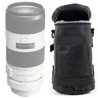 Black Protective Water-Resistant Carry Bag for Sony FE 70-200mm F2.8 GM OSS Lens