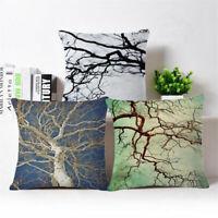 """Cotton Linen Contracted branch Throw Pillow Case Cushion Cover Home Decor 18"""""""