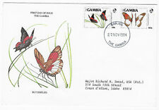 Gambia 1984 butterflies FDC cover cachet 533-4