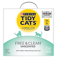 Purina Tidy Cats Clumping Cat Litter, Free & Clean Unscented Multi Cat Litter -