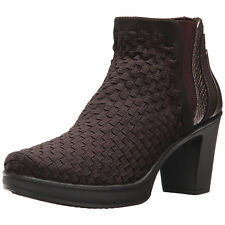 STEVEN by Steve Madden Women's Excit Ankle Booties (Brown, 7.5)