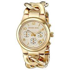 Michael Kors Uhr MK3131 RUNWAY TWIST Damen Chronograph Edelstahl Gold Armbanduhr