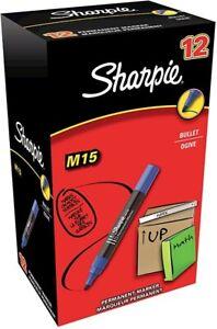 Stock di 32 pennarelli Sharpie M15 punta tonda colori nero, blu e rosso