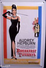 Nostalgic Art Audrey Hepburn - Breakfast at Tiffany - Filmplakat - Blechschild