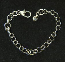 "Brand New, BRIGHTON silver CHOICE starter Charm Bracelet, 8""  FREE SHIPPING !!"