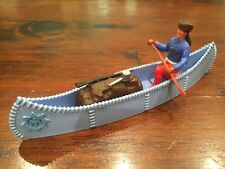 Timpo Trapper - Mid Blue Canoe - Wild West - 1970's