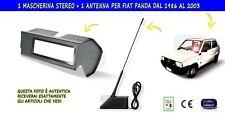 MASCHERINA STEREO CON ANTENNA RADIO PER AUTORADIO SUONO FIAT PANDA 750 1986-2003
