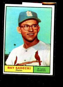 1961 TOPPS #32 RAY SADECKI CARDINALS EX E02169