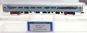 N Scale-Bachmann 14159 AMTRAK 85' Amfleet 1 Acela Regional Coach Class Car NOS