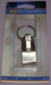 Sturdy Stainless Steel Metal Belt Clip On Key Hook W/ Split Ring Silver 52005-CD