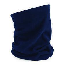 Azul Marino Uso Múltiples Morf Forro Polar Fino Invierno Braga bufanda