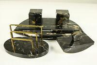 Art Deco Schreibtisch Garnitur Set Portor Marmor Tintenfässer Brieföffner.. 20er